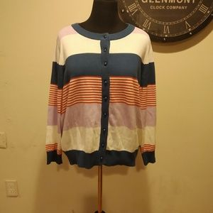 Collectif Striped Cardigan